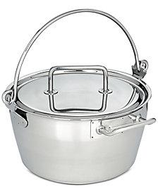 Demeyere 10.6-Qt. Stainless Steel Maslin Pan & Lid