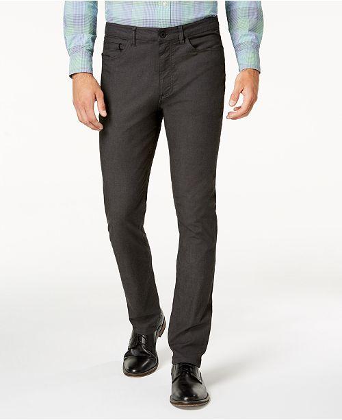 0249717cb6e9 Kenneth Cole New York Kenneth Cole.Brooklyn Slim-Fit Stretch Twill Pants -  Pants - Men - Macy s