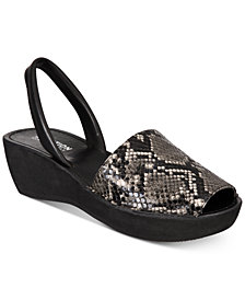 Kenneth Cole Reaction Women's Fine Glass Platform Wedge Sandals