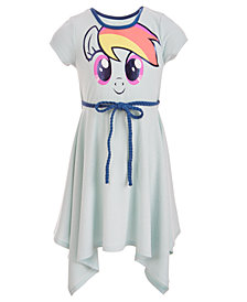 My Little Pony Little Girls Ribbed Graphic-Print Dress