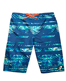 Laguna Big Boys Rainbow Palm Printed Swim Trunks