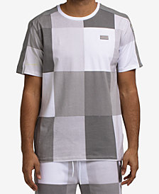 Hudson NYC Men's Mono Tile-Print T-Shirt