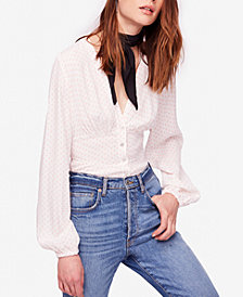 Free People Love Street Printed Blouse