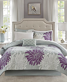 Madison Park Essentials Maible Reversible 9-Pc. Queen Comforter Set
