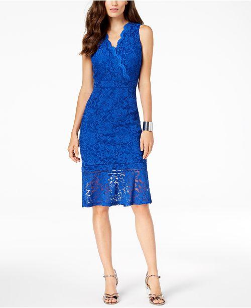 c32aaeeedb46 Thalia Sodi Lace Flounce-Hem Dress, Created for Macy's & Reviews ...