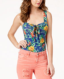 GUESS Franchesca Sleeveless Lace-Up Bodysuit