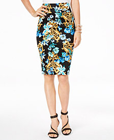 Thalia Sodi Printed Scuba Pencil Skirt, Created for Macy's