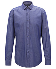 BOSS Men's Slim-Fit Stretch Twill Shirt