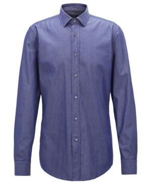 Boss Men's Slim-Fit Stretch Twill Shirt