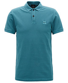 BOSS Men's Slim-Fit Washed Cotton Polo