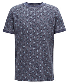 BOSS Men's Relaxed-Fit Graphic-Print Cotton T-Shirt