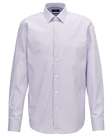 BOSS Men's Two-Tone Striped Cotton Shirt