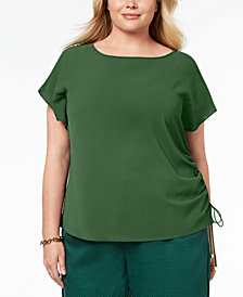 MICHAEL Michael Kors Plus Size Drawstring Top
