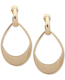 Anne Klein Large E-Z Comfort Clip-On Drop Earrings