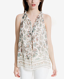 Max Studio London Ruffled-Trim Top, Created for Macy's