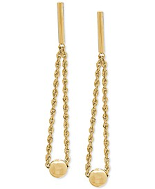 Bead & Rope Drop Earrings in 14k Gold, 1 3/8 inches