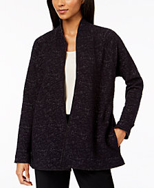 Eileen Fisher Organic Cotton Space-Dye Stand-Collar Jacket