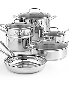 Chef's Classic Stainless Steel 11 Piece Cookware Set
