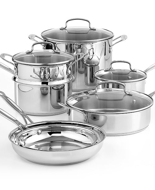Cuisinart Chef\'s Classic Stainless Steel 11 Piece Cookware Set