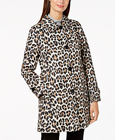 kate spade new york Leopard-Print Raincoat