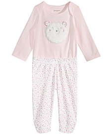First Impressions Baby Girls Bodysuit & Printed Leggings Separates, Created for Macy's