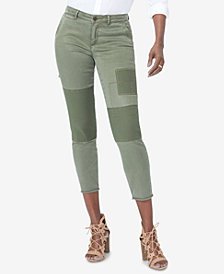NYDJ Tummy-Control Patchwork Cropped Jeans