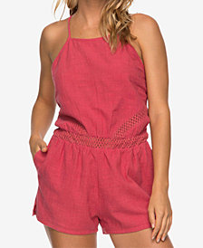 Roxy Juniors' Desert Hikes Cotton Crochet Romper