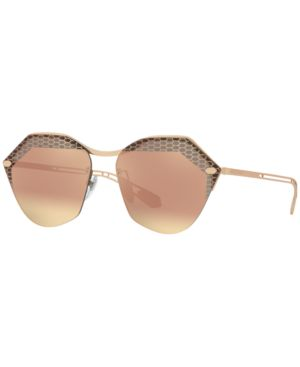 BVLGARI Serpenti Hexagonal Sunglasses in Pink