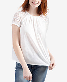 Lucky Brand Lace-Sleeve Top