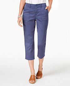 Style & Co Curved-Pocket Capri Pants, Created for Macy's