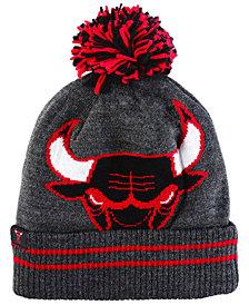 Mitchell & Ness Chicago Bulls Black Heather Hi-5 Pom Knit