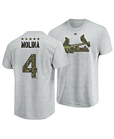 Majestic Men's Yadier Molina St. Louis Cardinals Camo Player T-Shirt