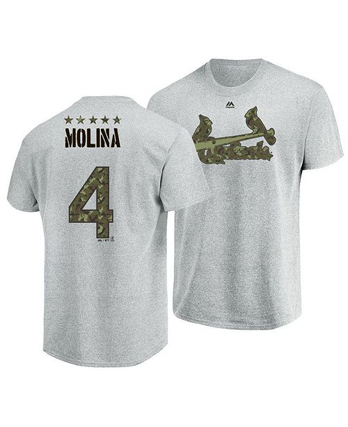 pretty nice d7727 93452 Majestic Men's Yadier Molina St. Louis Cardinals Camo Player ...