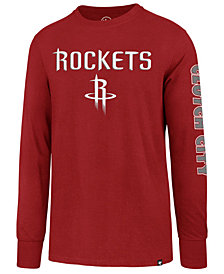 '47 Brand Men's Houston Rockets Super Rival Team Slogan Long Sleeve T-Shirt