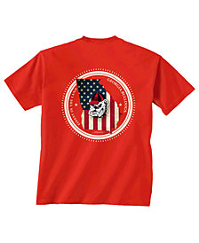 New World Graphics Men's Georgia Bulldogs Flag Fill T-Shirt