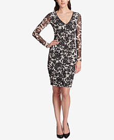 GUESS Floral Ruched Bodycon Dress, Created for Macy's
