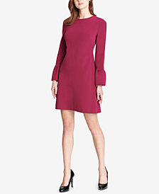 Tommy Hilfiger Statement-Sleeve Scuba Crepe Dress