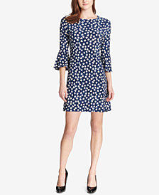 Tommy Hilfiger Heartland Floral Bell-Sleeve Dress