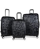 21da54c7641b Aimee Kestenberg Geo Edge 3-Pc. Hardside Luggage Set