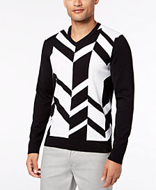 Alfani Men's Broken Chevron Sweater, Created for Macy's