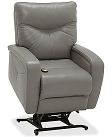 Erith Leather Power Lift Recliner