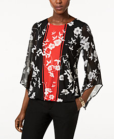 Alfani Bell-Sleeve Bubble Top, Created for Macy's