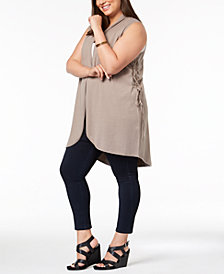 Love Scarlett Plus Size Lace-Up-Side Vest