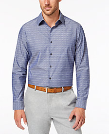 Tasso Elba Men's Diamond Chambray Shirt, Created for Macy's