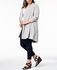 Love Scarlett Plus Size Cutout-Elbow Open-Front Cardigan