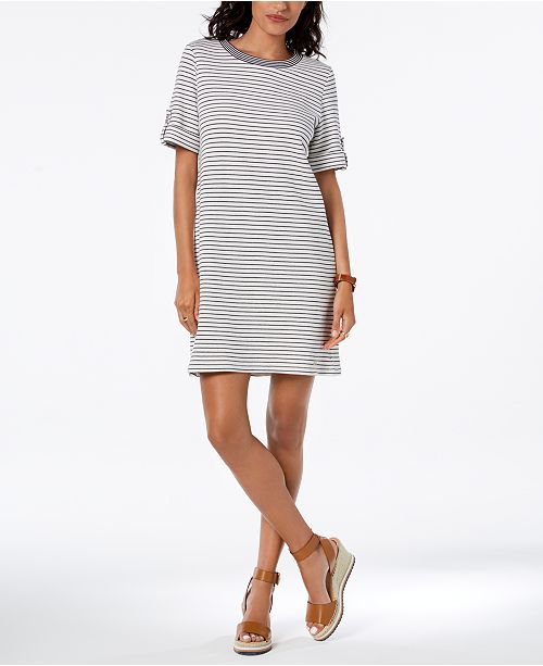 c148b42967d9 ... Tommy Hilfiger French Terry Tab-Sleeve Dress, Created for Macy's ...