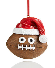 Holiday Lane Emoji Football Ornament, Created for Macy's
