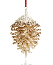 Holiday Lane Glitter Pinecone Ornament, Created For Macy's