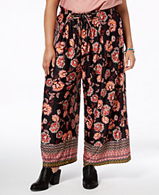 John Paul Richard Plus Size Printed Crop Pants