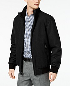 Men's Full-Zip Wool Bomber Jacket